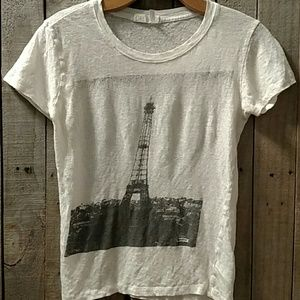 Linen Eiffel Tower t-shirt XS